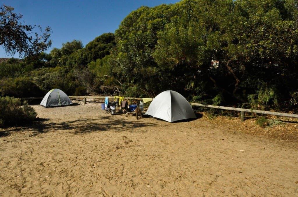Camping at Lucky Bay