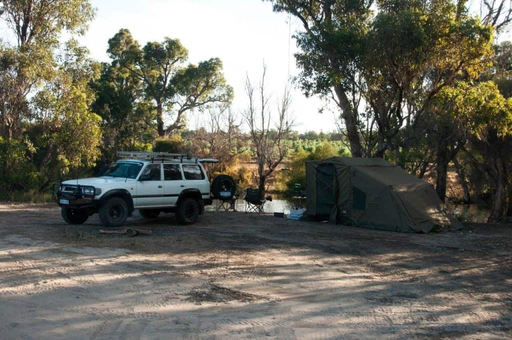 Camped on Collie River