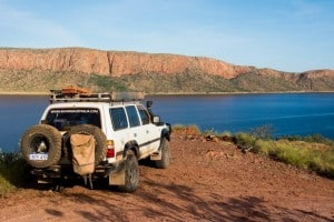 4WD tracks at Lake Argyle