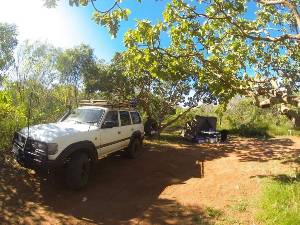 4WDing Australia campsite at Middle Lagoon