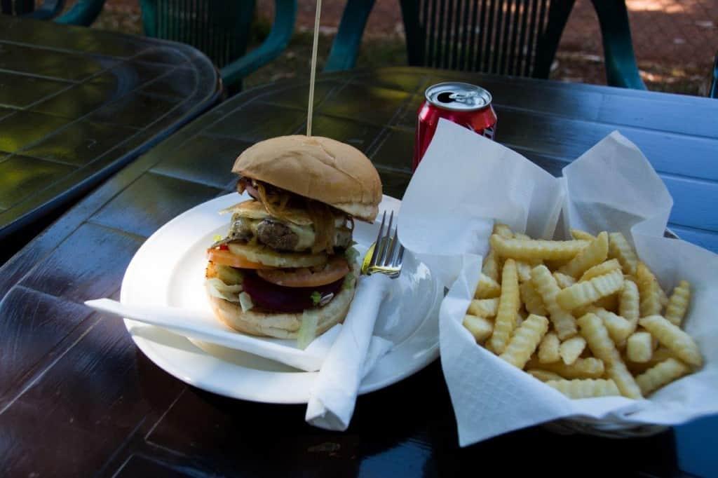 A big burger at Drysdale