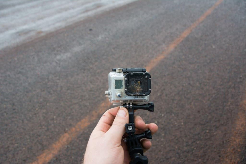 A little accident with the Gopro
