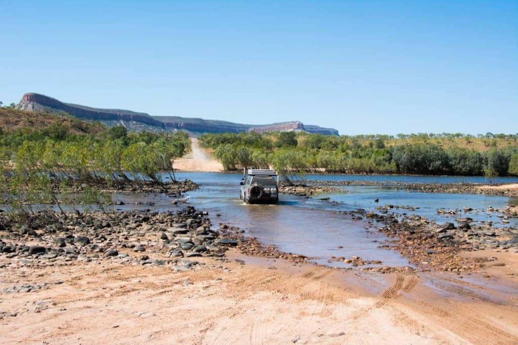 Amarok crossing the Pentecost River