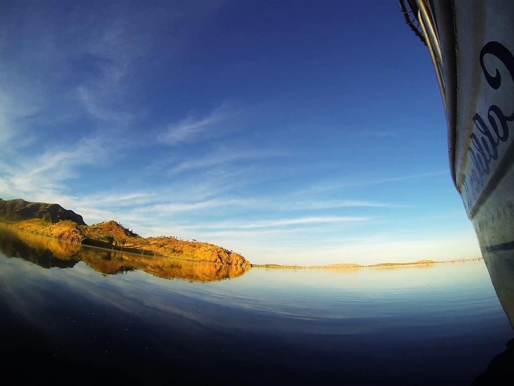 Boating on Lake Argyle
