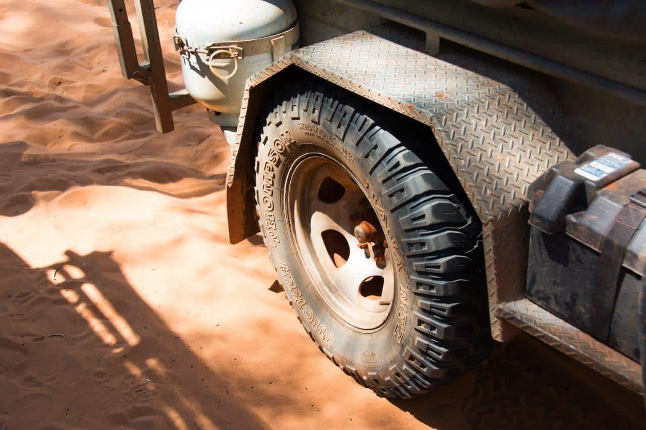 Camper trailer off road