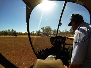 Helicopter ride at Bungles