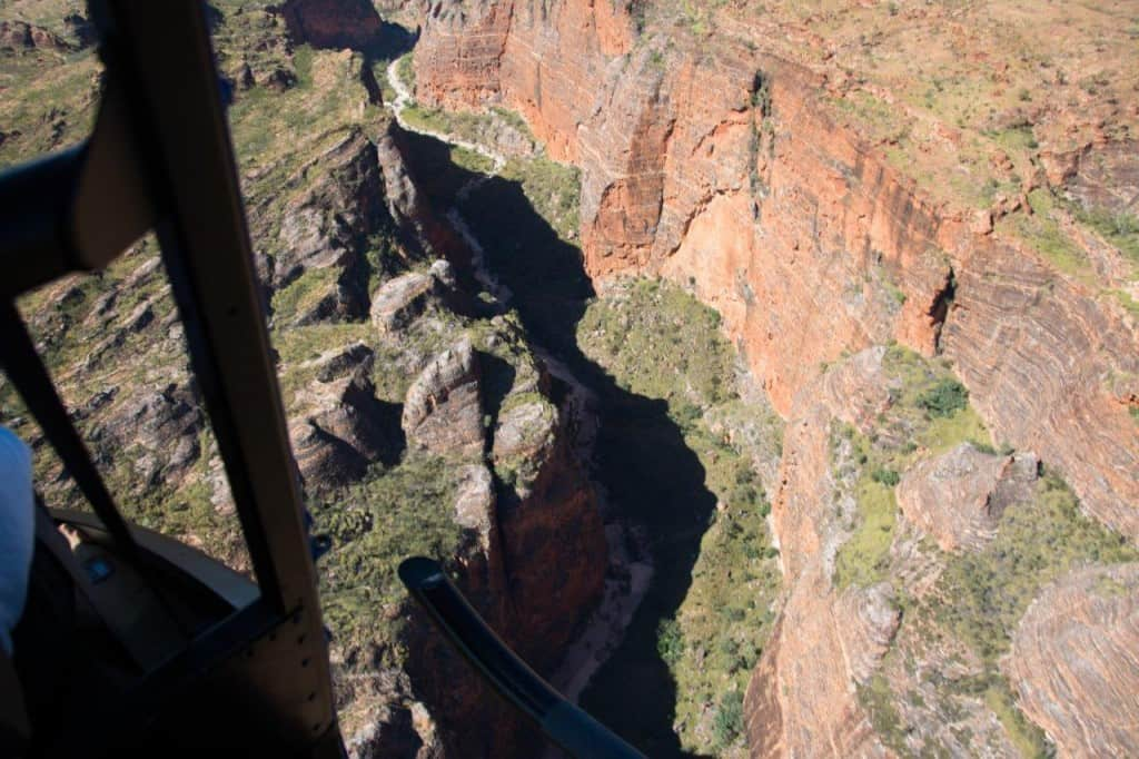 Bungles via helicopter