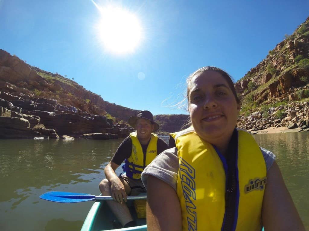 Canoeing up Sir John gorge