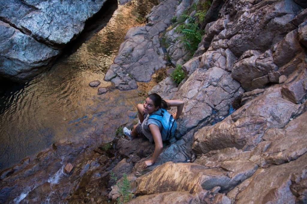 Climbing El Questro Gorge