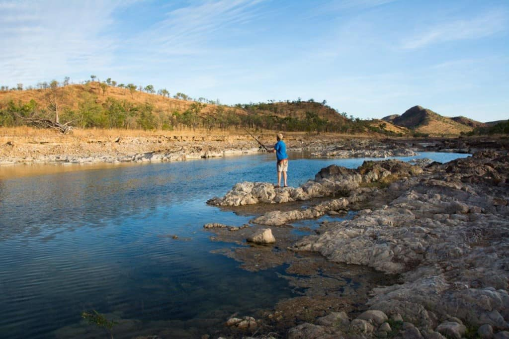 Lake Argyle floodway fishing