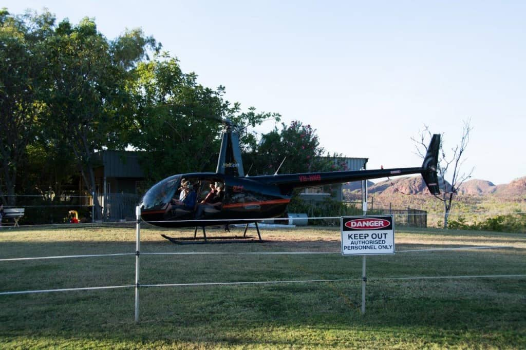 Lake argyle helicopter