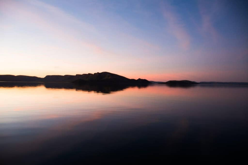 Lake argyle sunset reflections