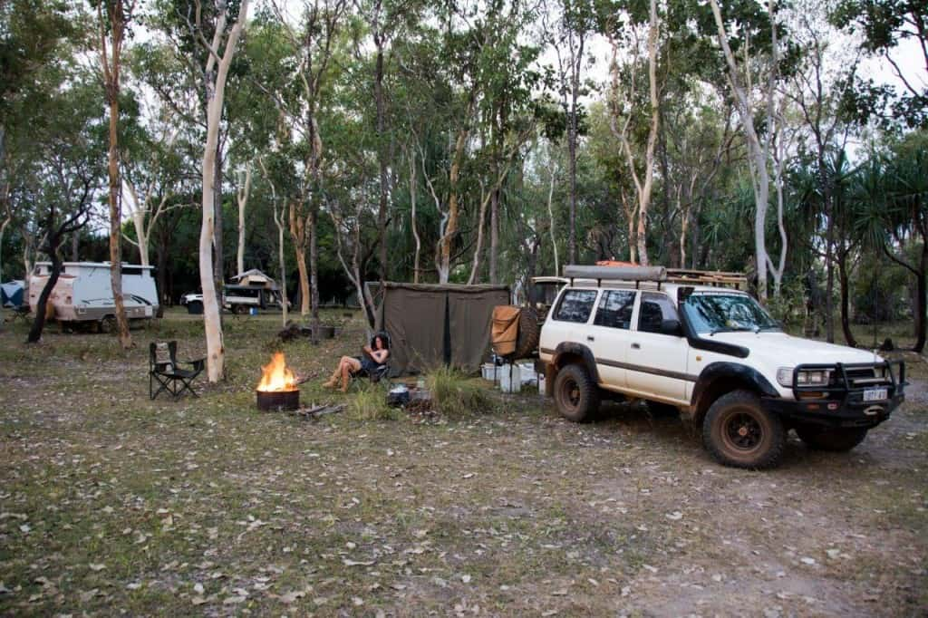 Our campsite at Mt Elizabeth