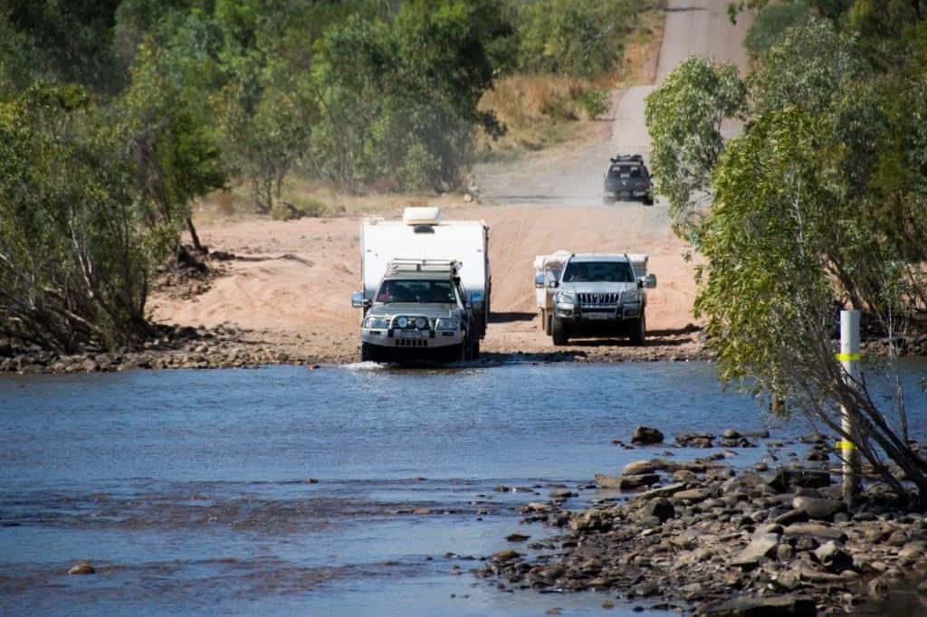 Pentecost river crossing with a Caravan