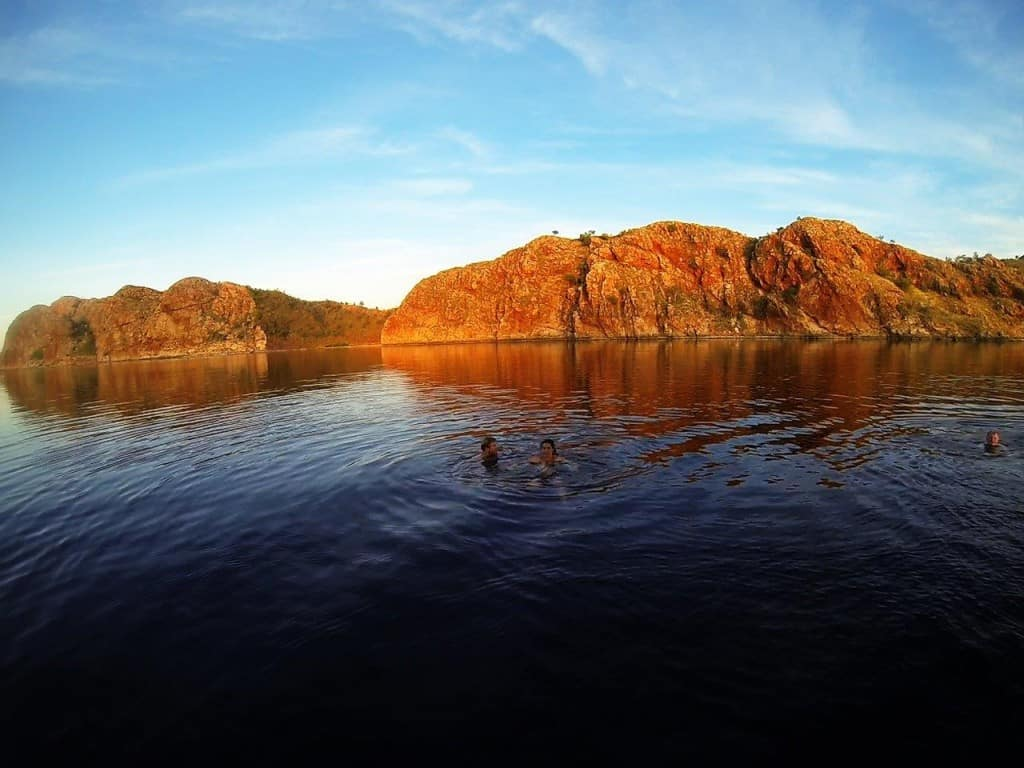 Swimming at Lake Argyle