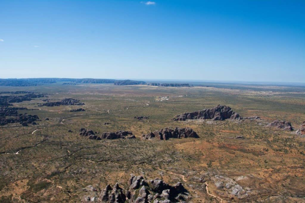 The bungles from a helicopter