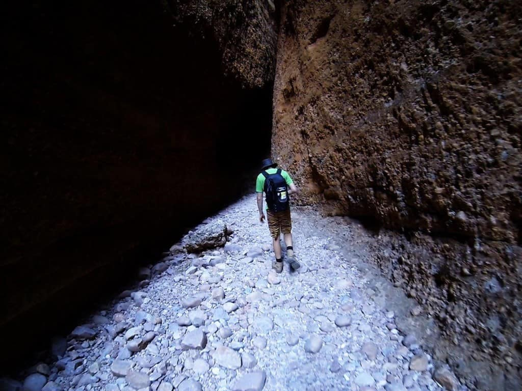Walking through Echidna Chasm