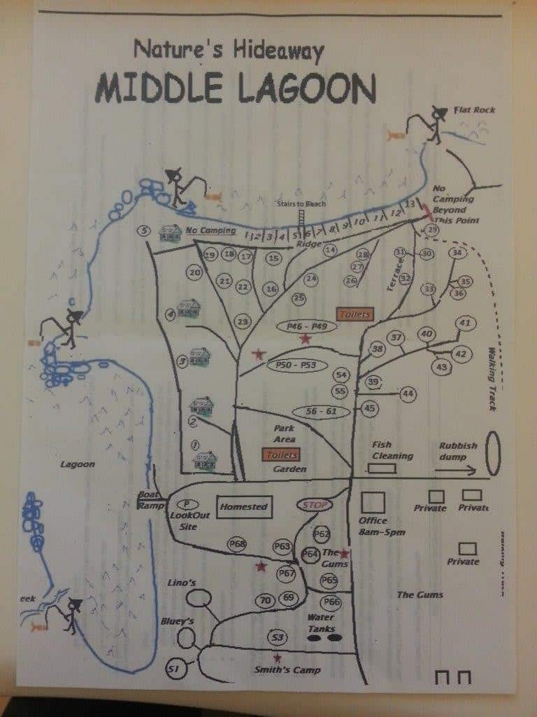 A map of Middle Lagoon