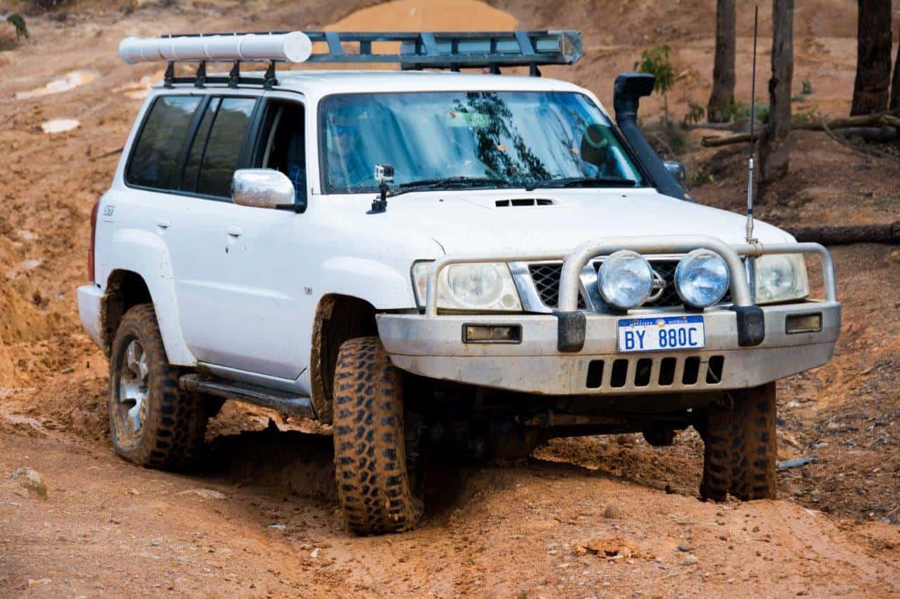 GU Patrol in mud