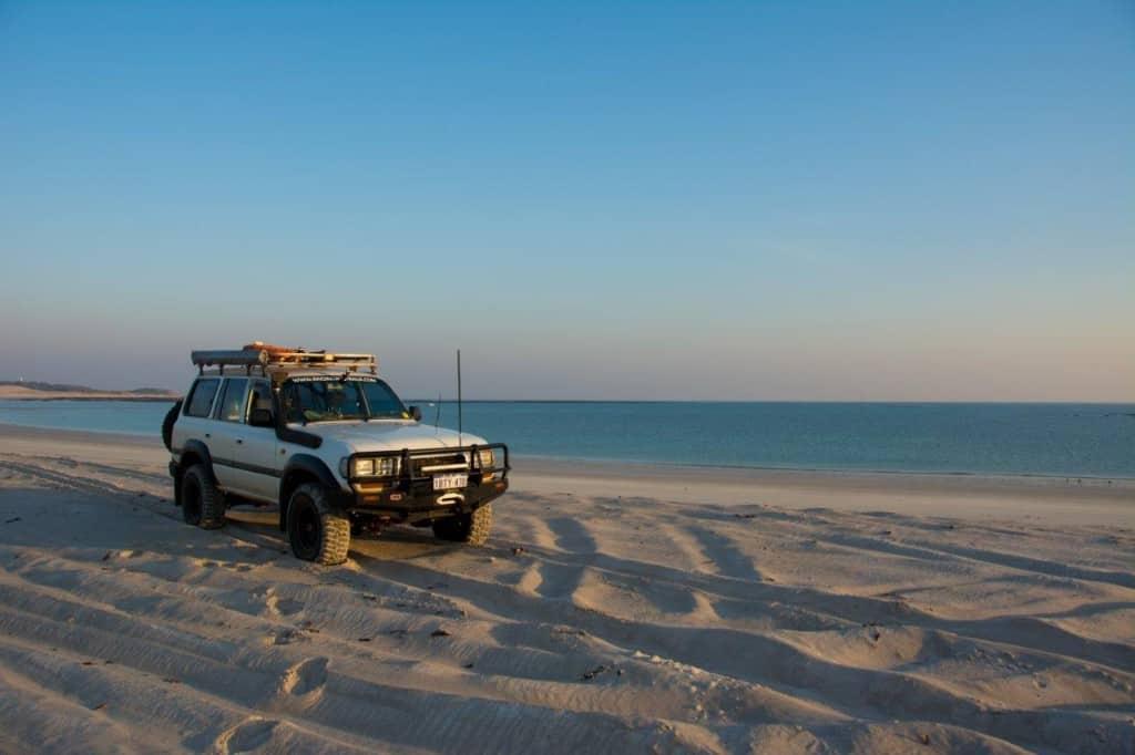 Beach driving at Kooljaman