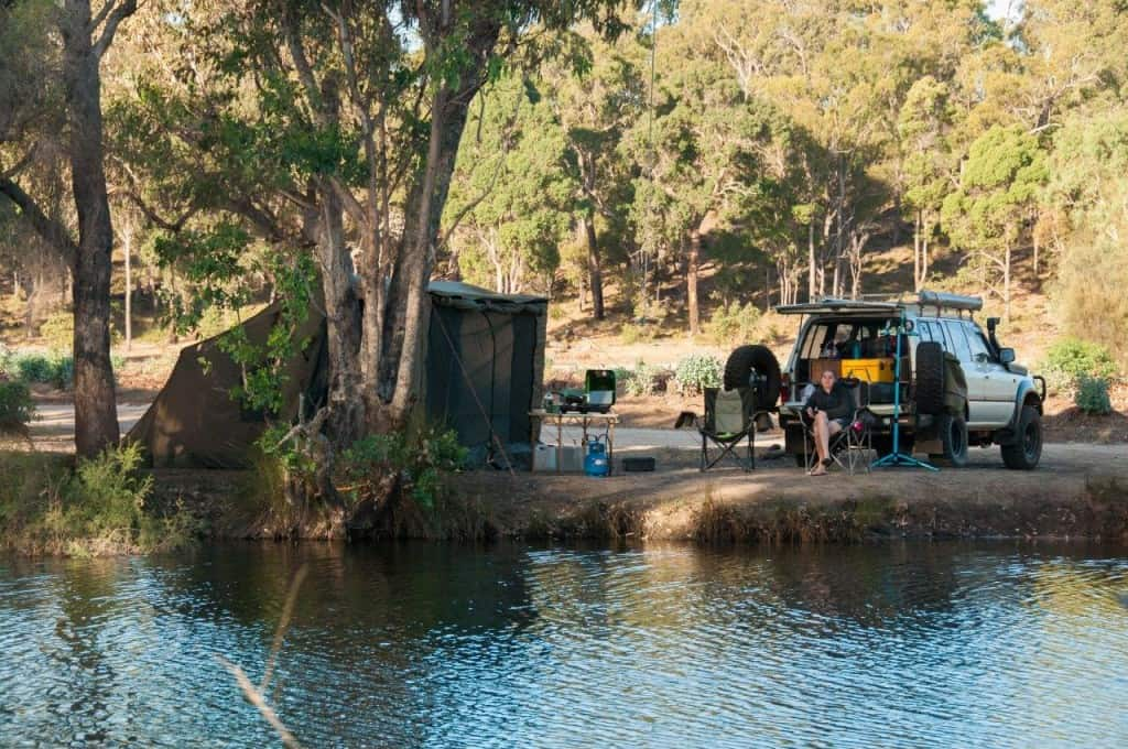Camping at Collie