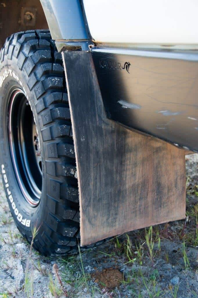 Home made mud flaps