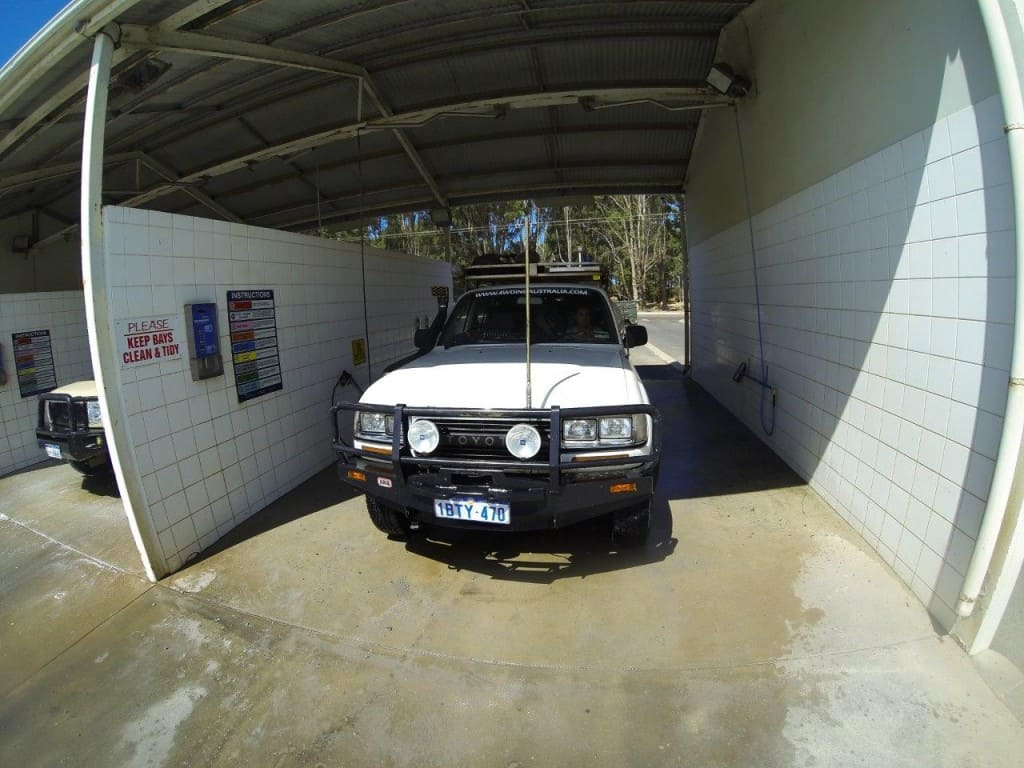Washing the 80 at Esperance