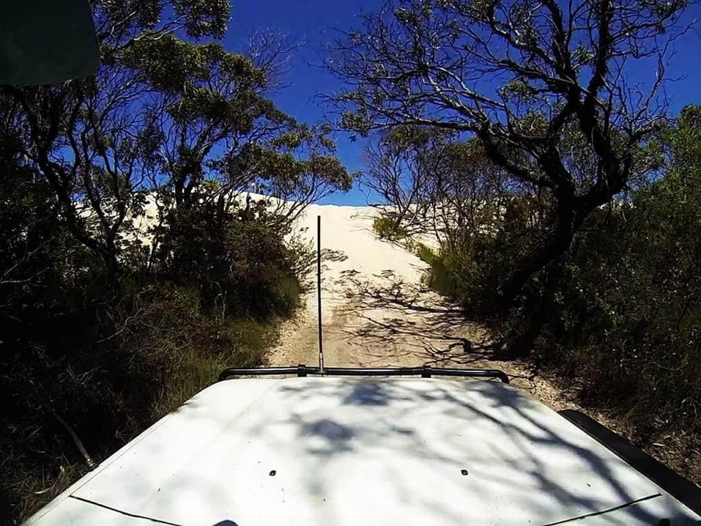 Short dune climb