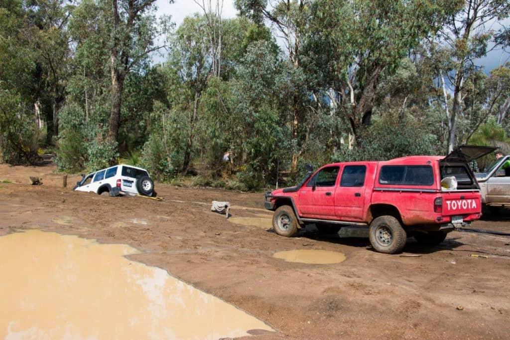 Bogged GU Patrol at Mundaring