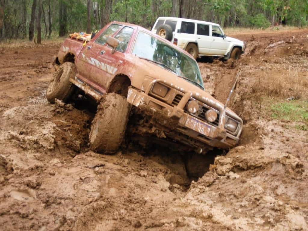 Hilux stuck in mud