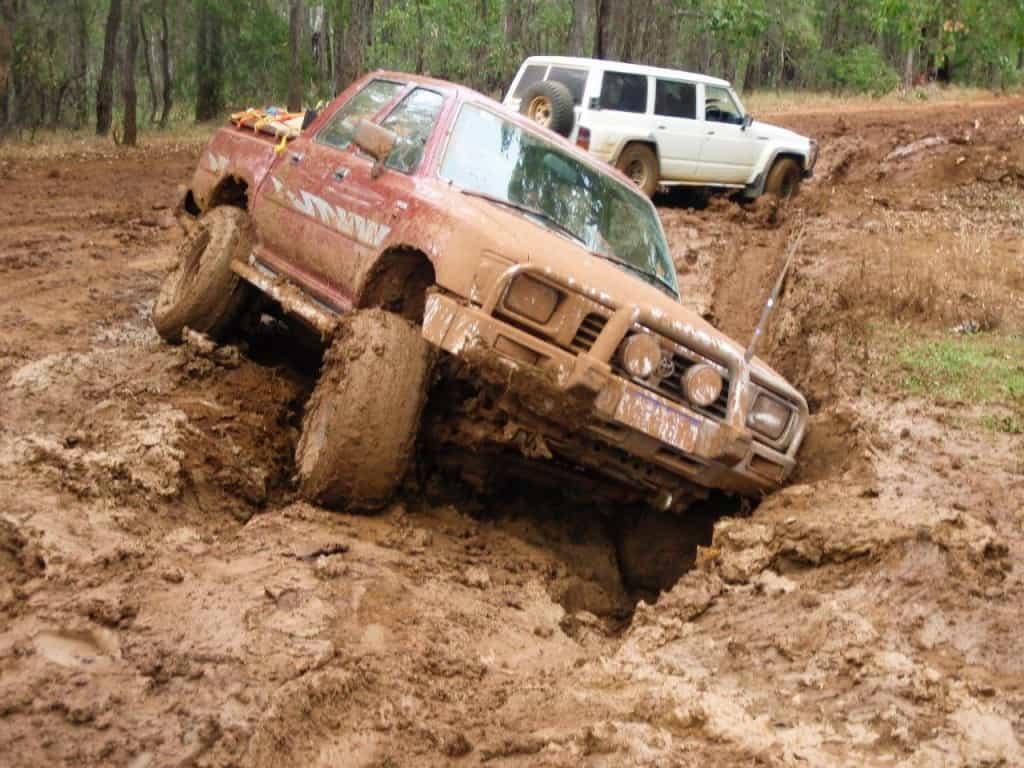 Hilux stuck in mud