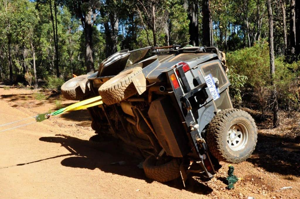 Recovering a rolled 4WD