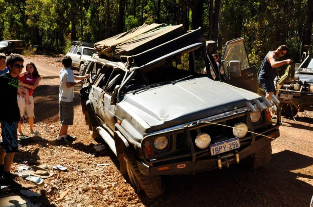 Rolled 4WD recovery