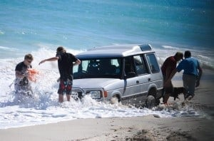 Salt water over the Range Rover