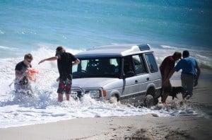 Salt water over the Range Rover