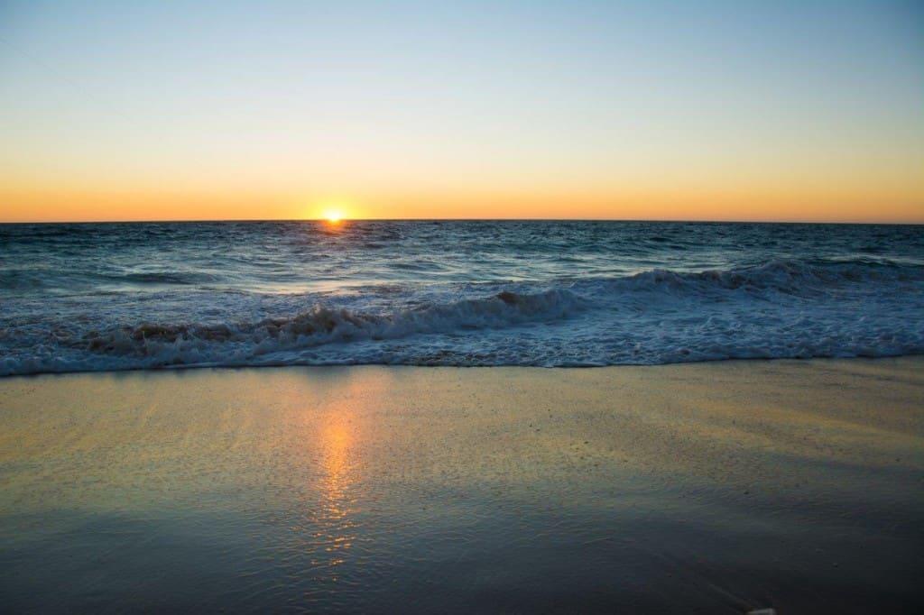 Preston beach sunset