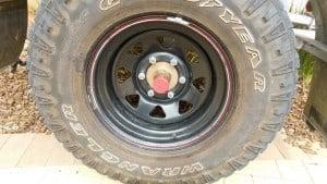 4WD tyre condition
