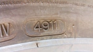 Tyre age stamp