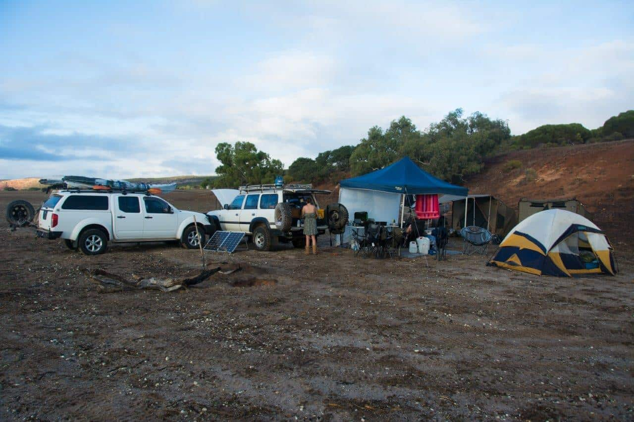 Our campsite at House Station