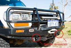 ARB Bull bar recovery points