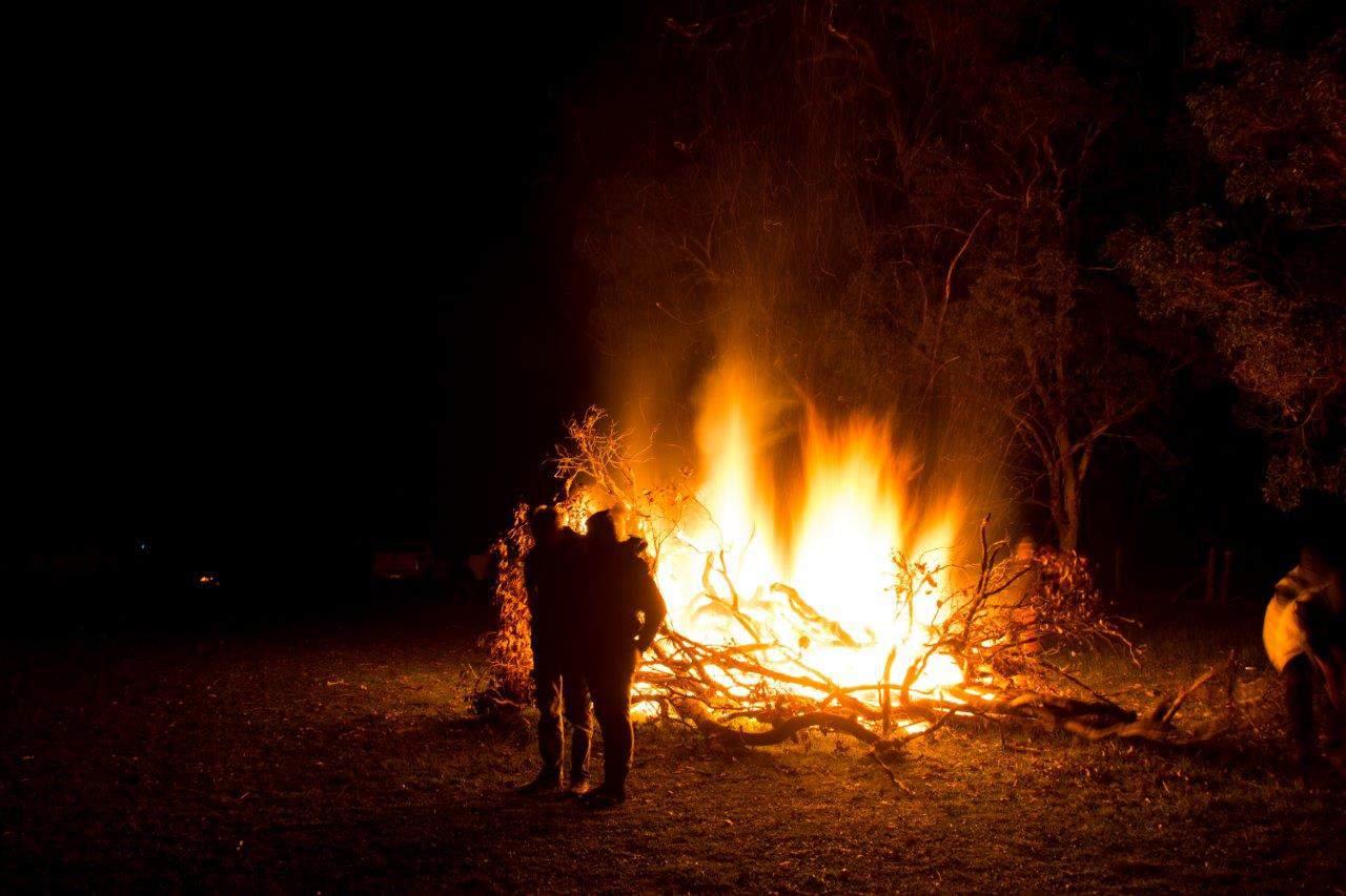 Camp fire in WA