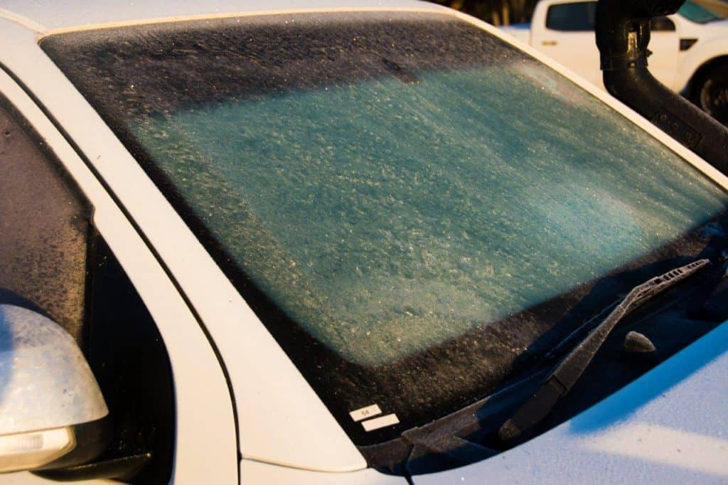 Frosty wind screen