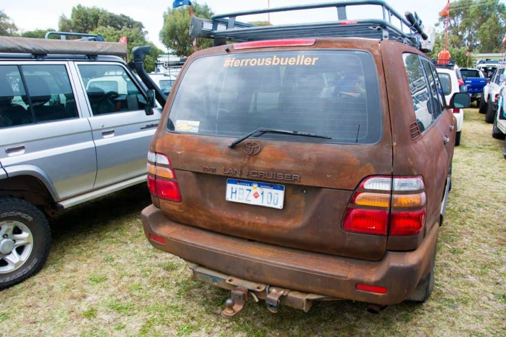 100 series paint rust