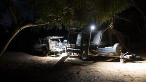 Camper trailer camping