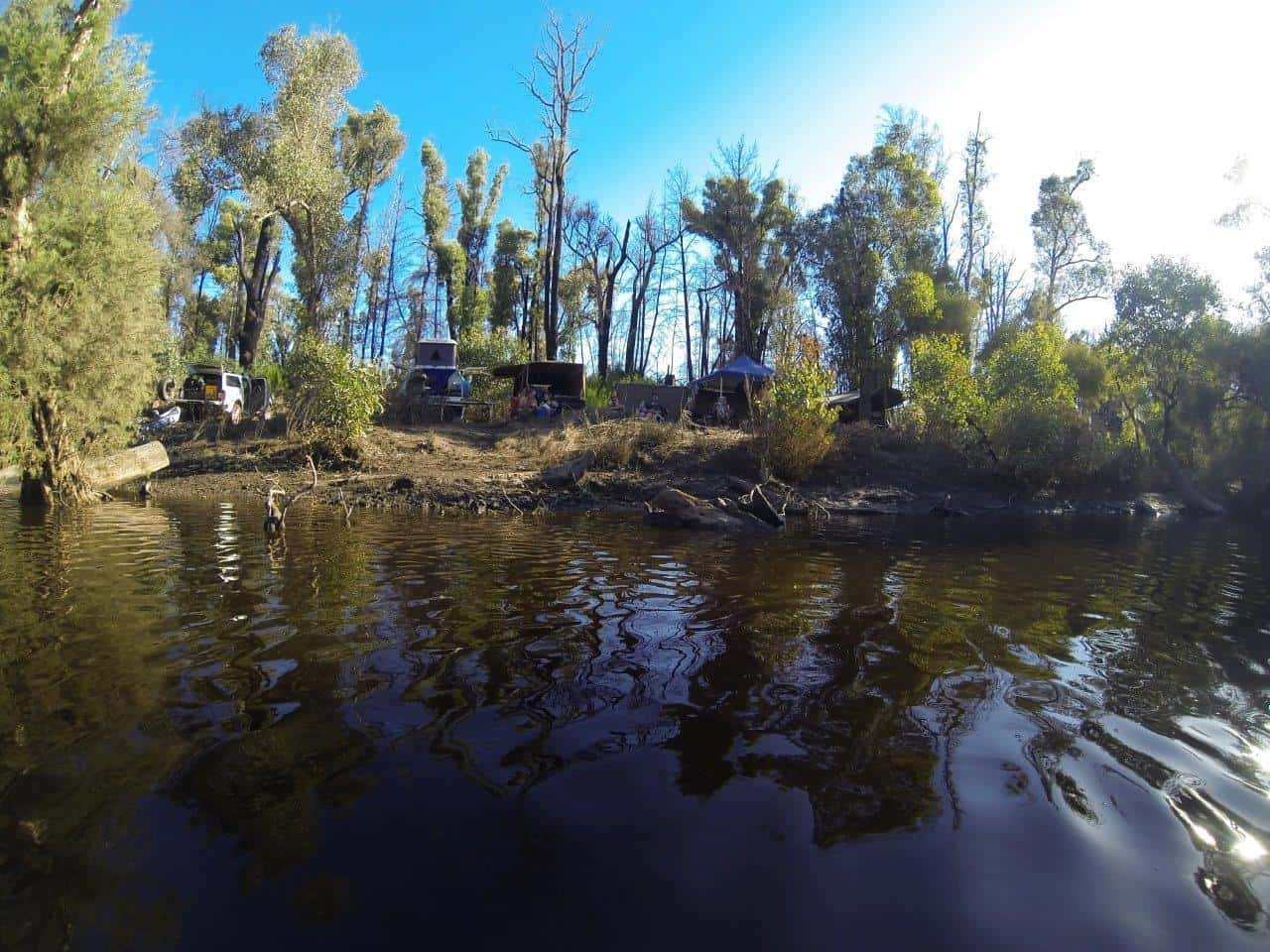 Camping along the Murray River