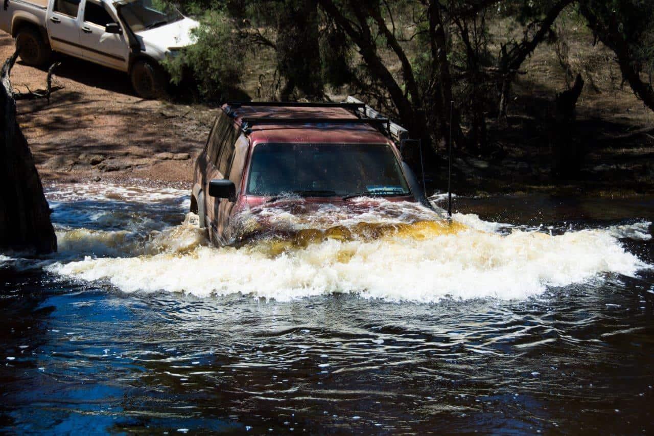 GU Patrol crossing the murray river