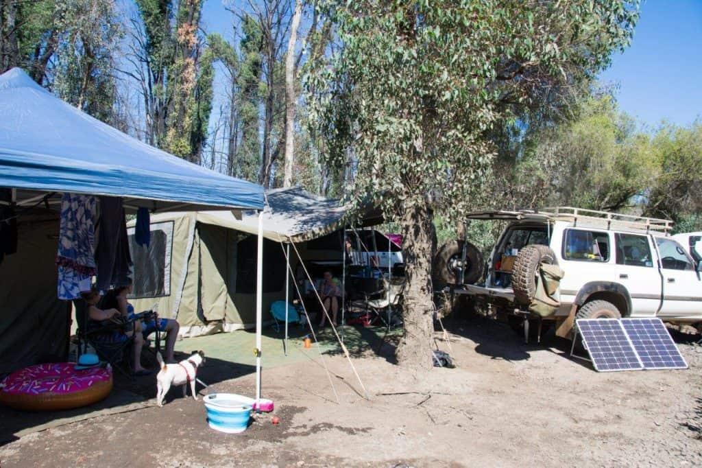 Warm camping