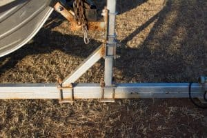 Braced winch support boat trailer