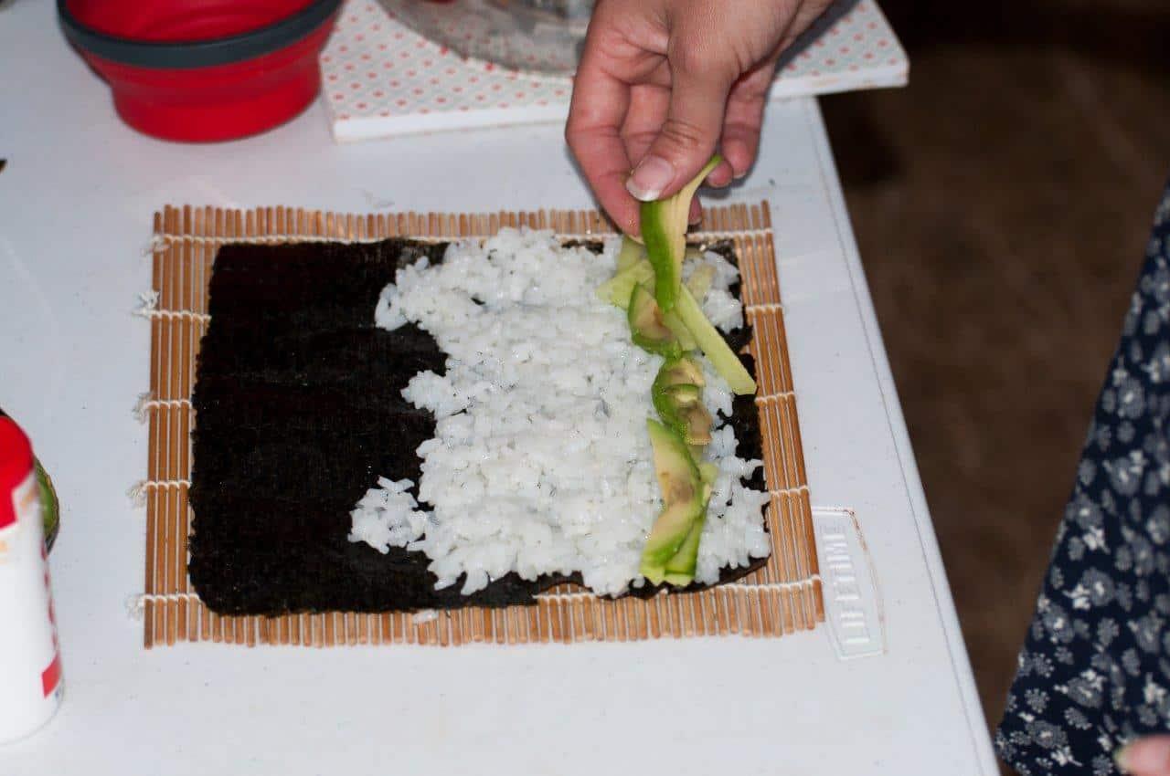 Sushi when camping