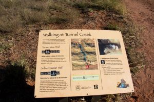 Information sign at Tunnel Creek